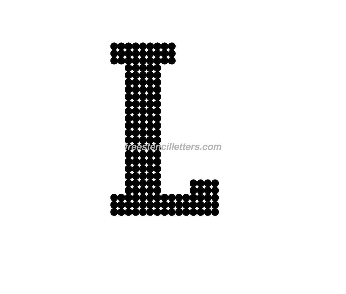 bubble letters lowercase l download