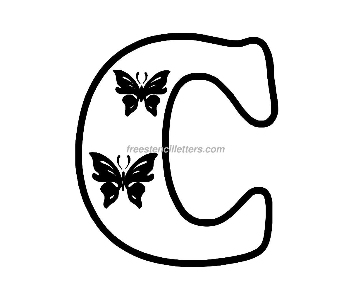 Galerry free printable cut out letter stencils