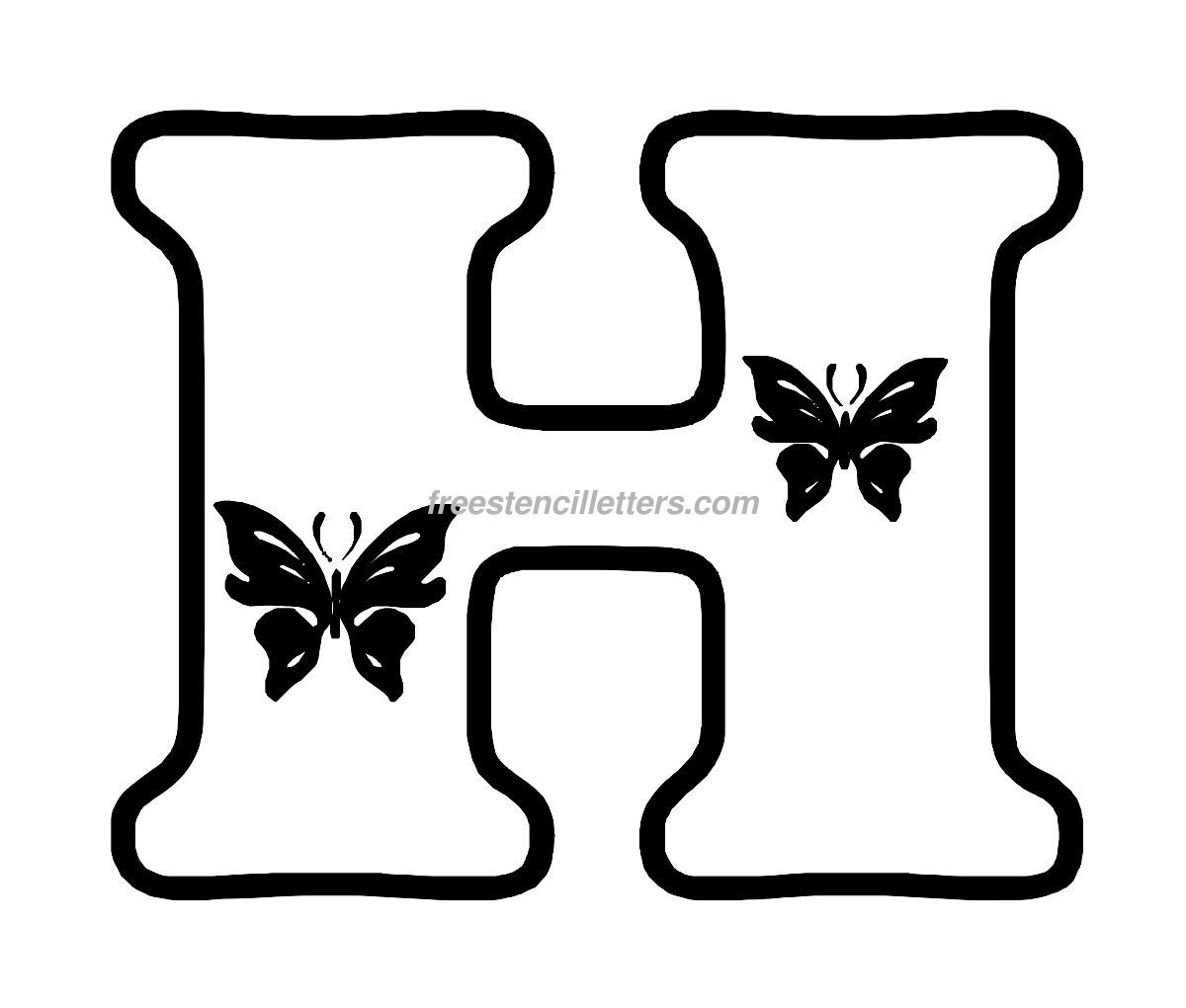 Worksheets Large Letters To Print And Cut Out print h letter stencil free letters download to and cut out