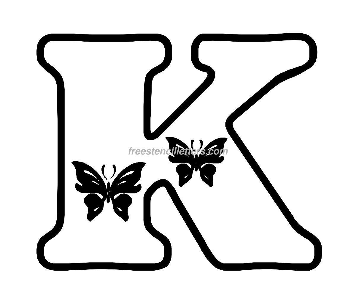photograph about Printable Stencils Letters titled Print K Letter Stencil - Free of charge Stencil Letters