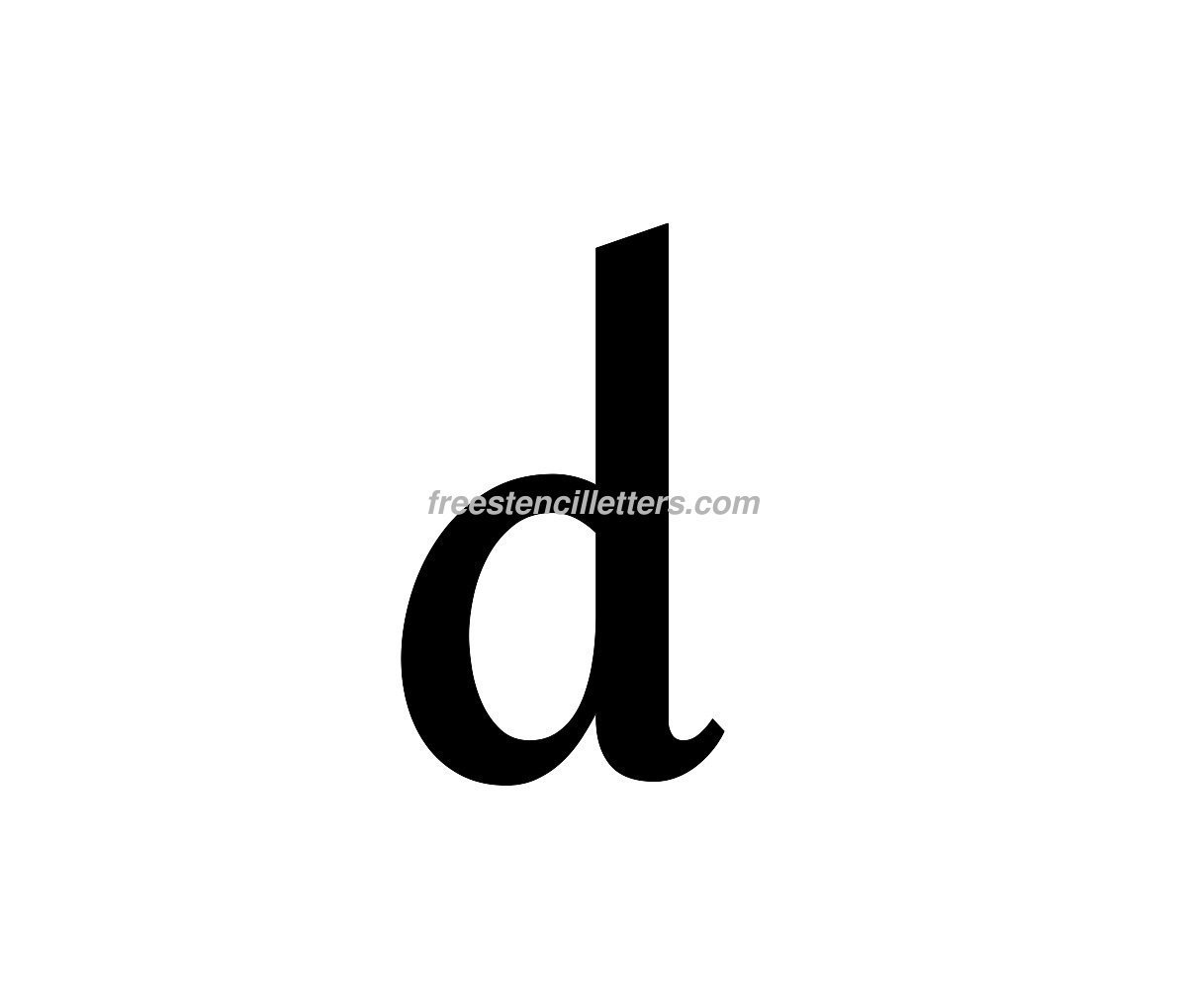 lowercase arial stencil letter d alphabets numbers pinterest