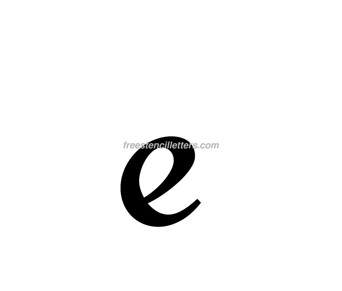 Alphabet E letters to print and cut out free - Print Lowercase E Letter Stencil