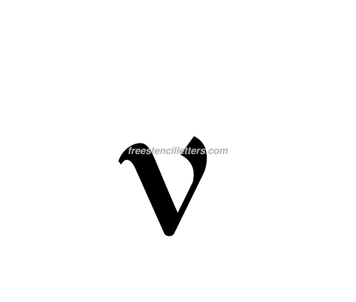 Print lowercase v letter stencil free stencil letters download print lowercase v letter stencil to print and cut out thecheapjerseys Choice Image