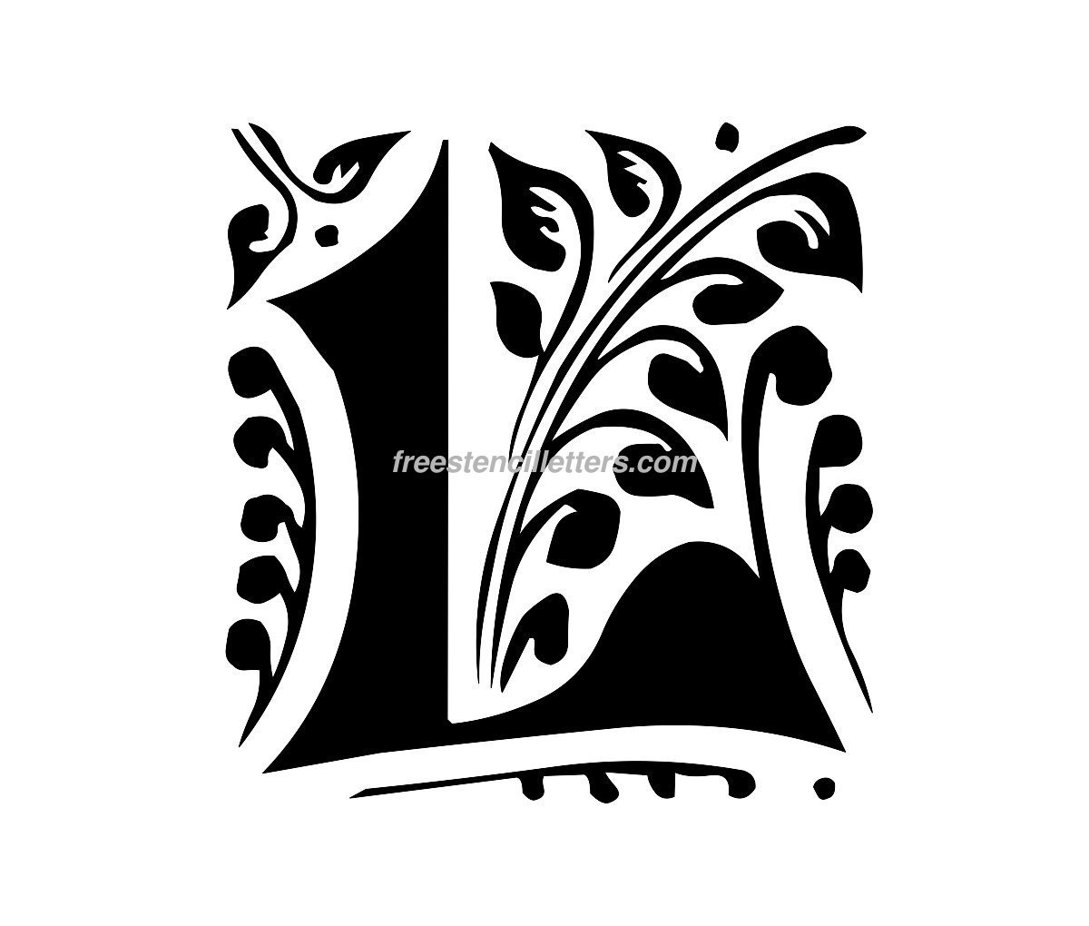 graphic regarding Printable Celtic Stencils called Print L Letter Stencil - Absolutely free Stencil Letters