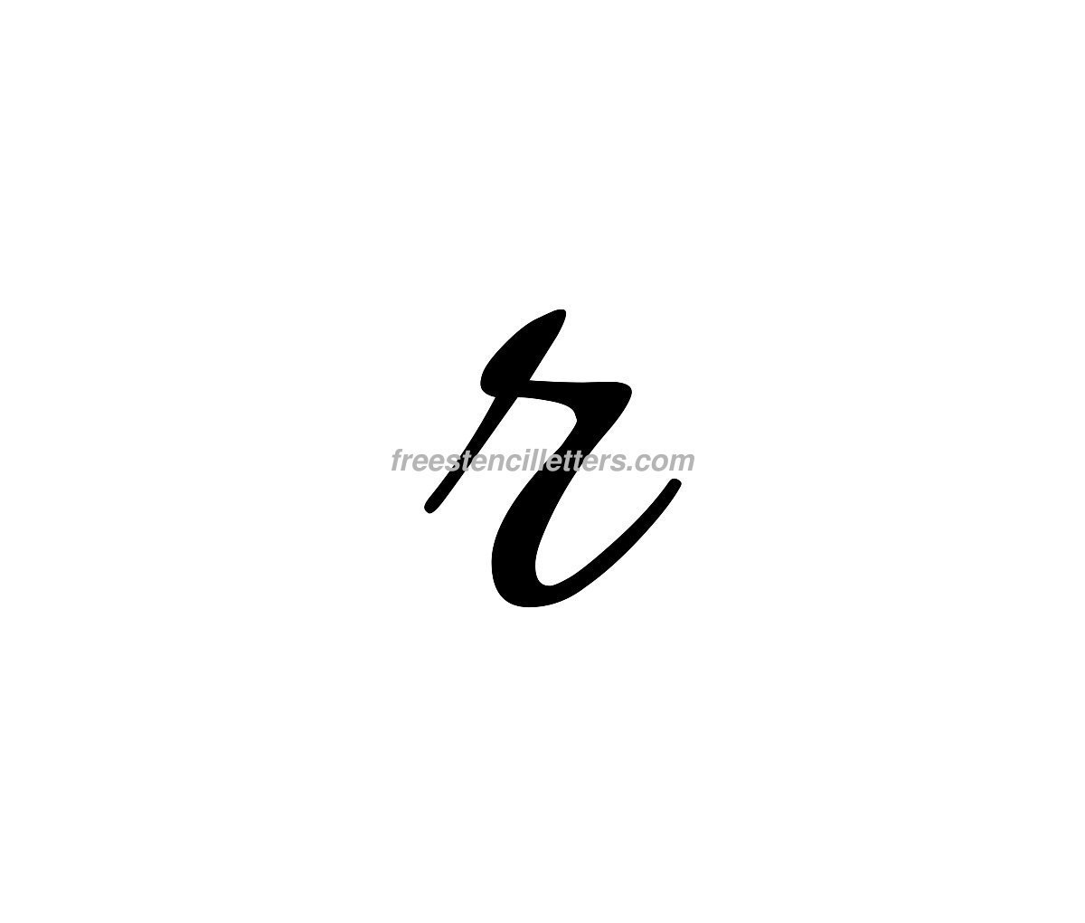 Fancy calligraphy lowercase letters tattoo