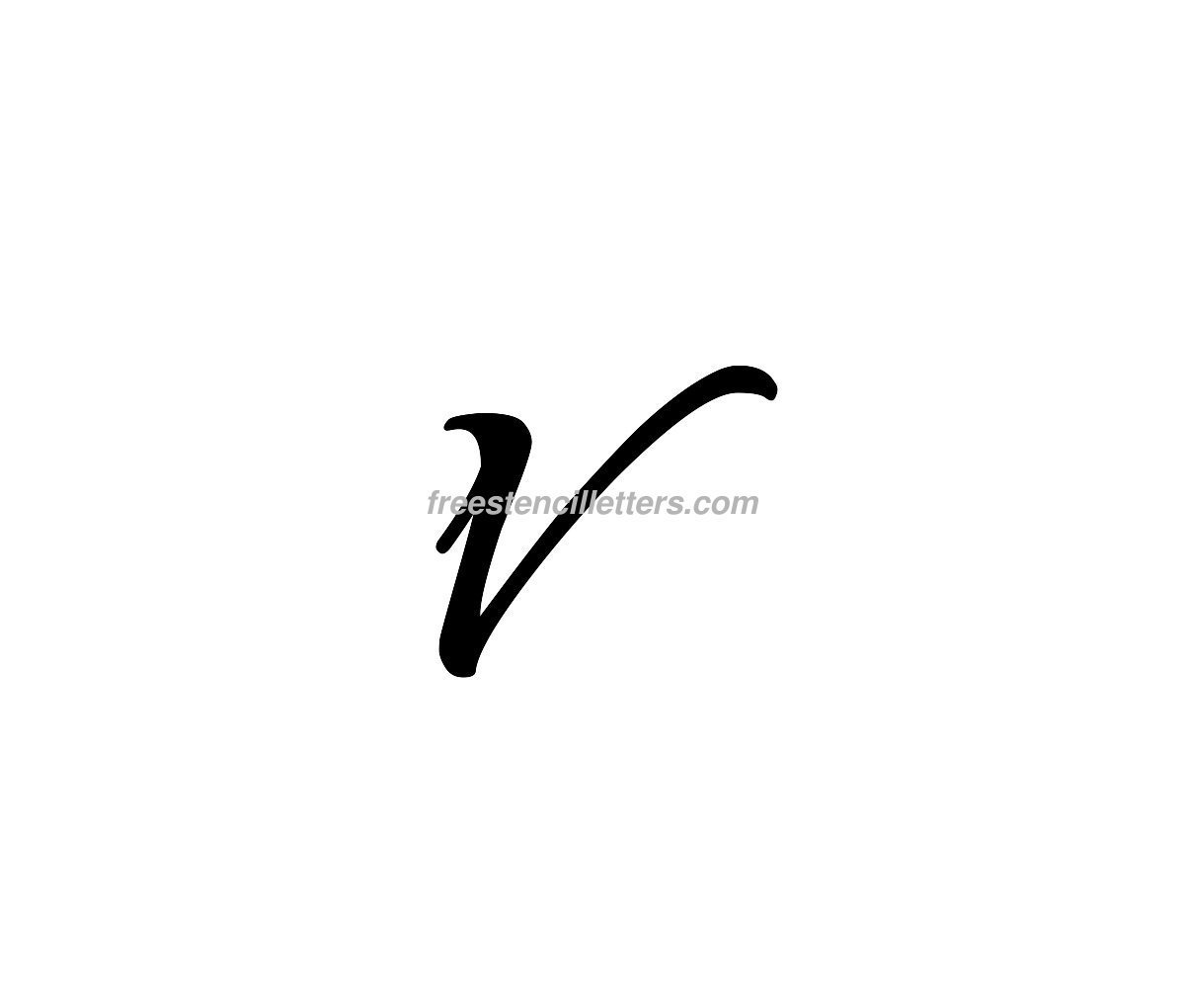 Print small v letter stencil free stencil letters download print small v letter stencil to print and cut out altavistaventures Images