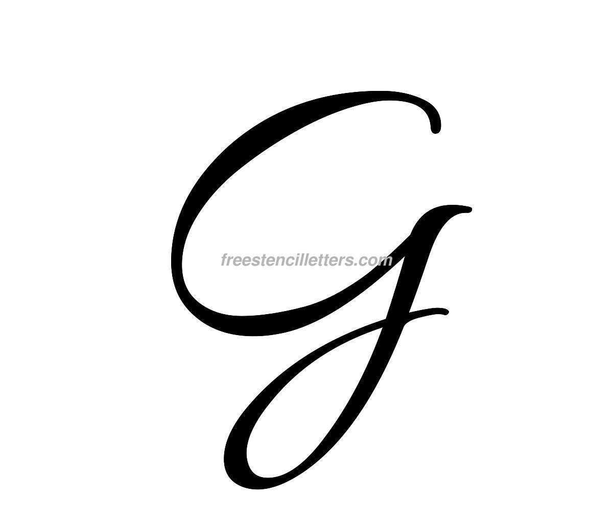 Print g letter stencil free letters