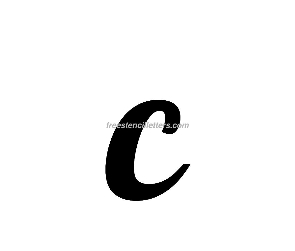 small-c Letter Stencil Templates K on coloring pages, free printable cut out, cut out, fancy printable, print out, lower case, free printable 5 inches, fancy capital,