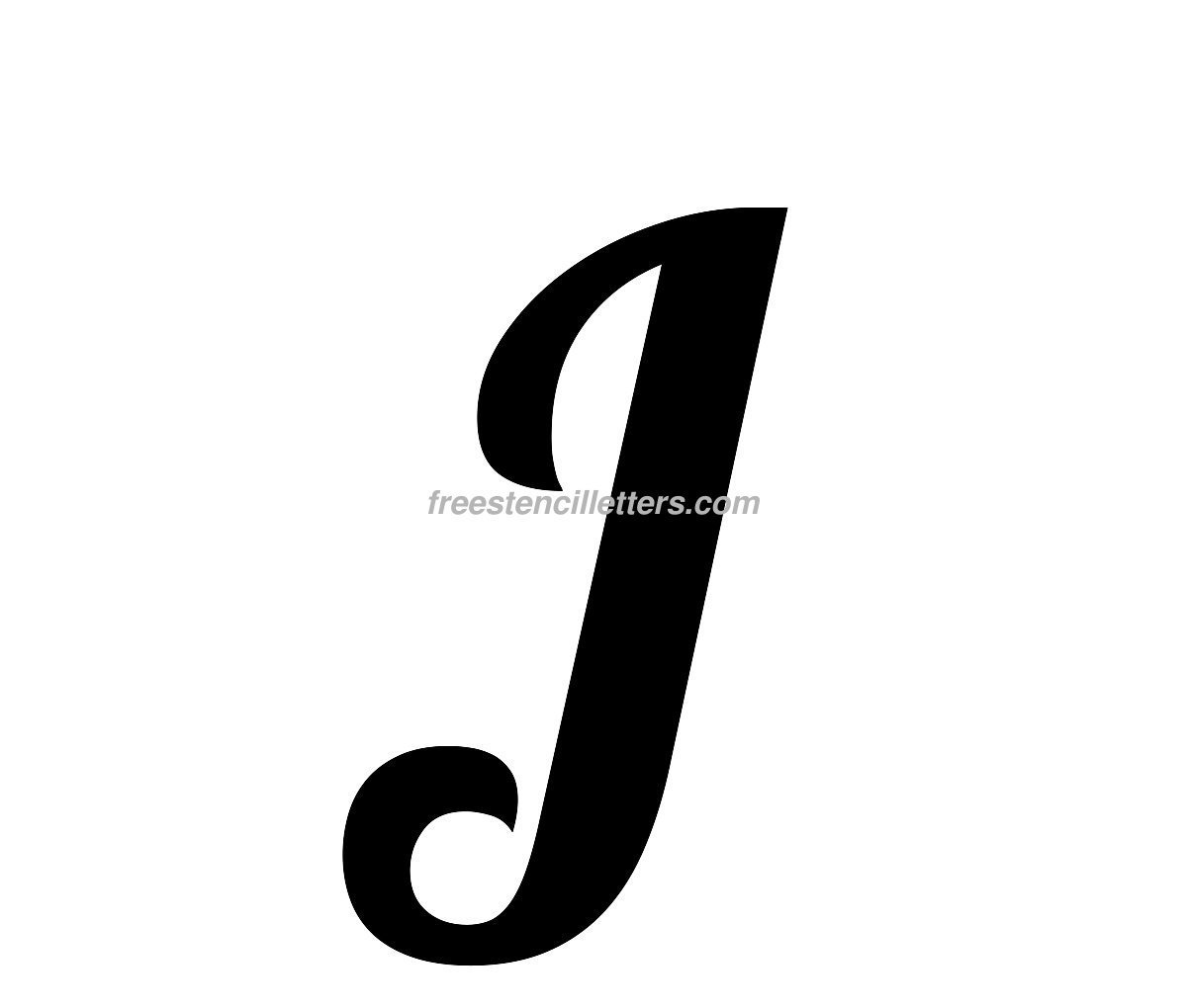 Download print j letter stencil to print and cut out