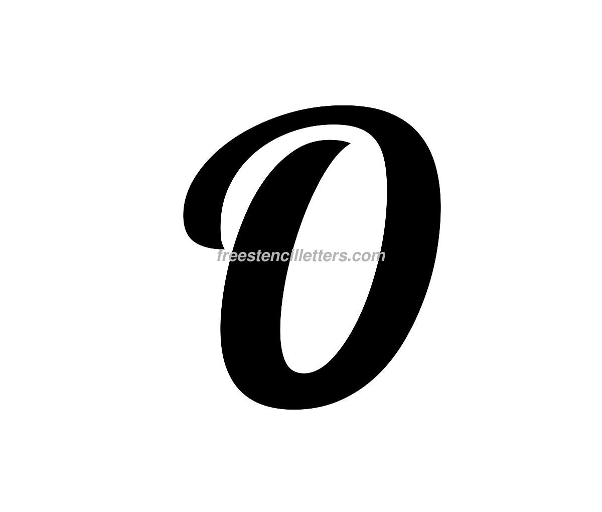 Download Print O Letter Stencil to print and cut out