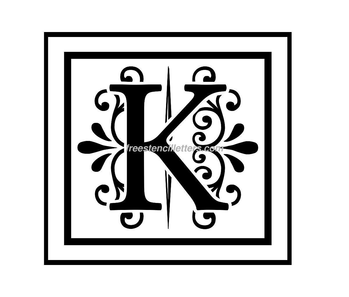 image relating to Free Printable Stencils to Cut Out called Print K Letter Stencil - Absolutely free Stencil Letters