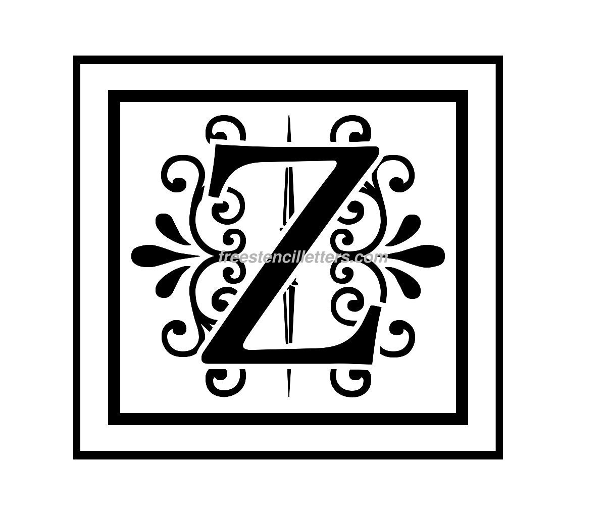 Alphabet s letters to print and cut out free - Print Z Letter Stencil