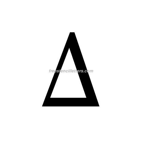 picture about 4 Inch Greek Letter Stencils Printable known as Print Greek Letter Delta Letter Stencil - Free of charge Stencil Letters