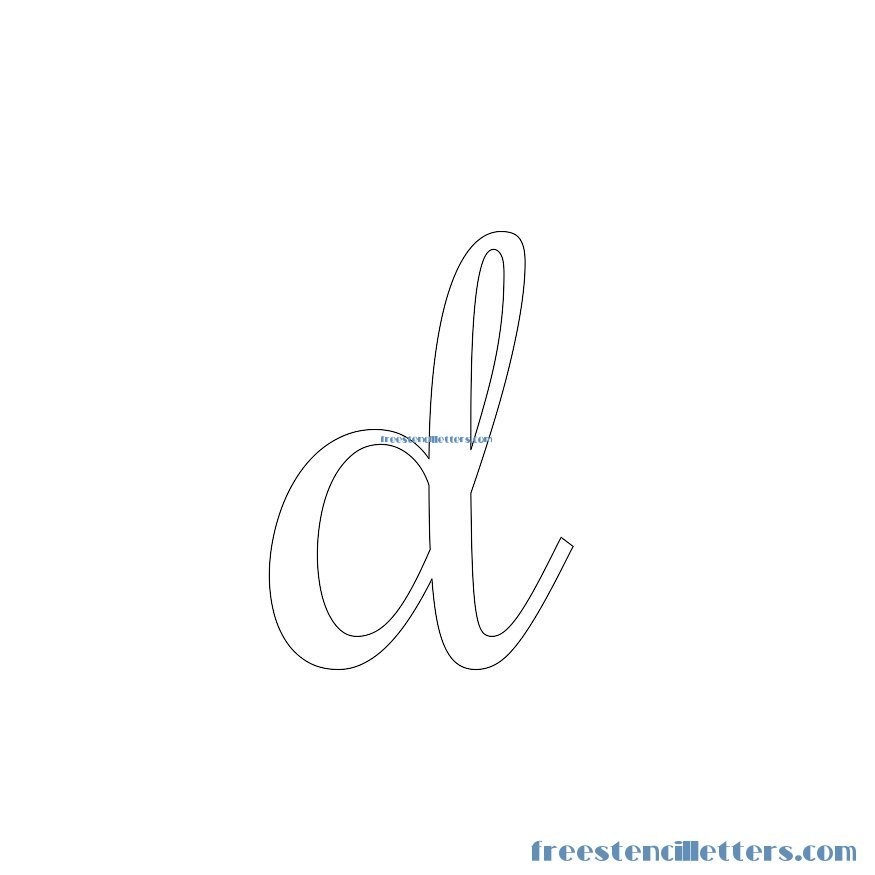 Cursive stencils and numbers to print free stencil letters d stencil spiritdancerdesigns Images