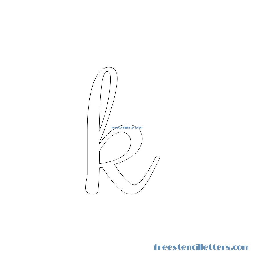 Lowercase Letter K Cursive Stencils And N...