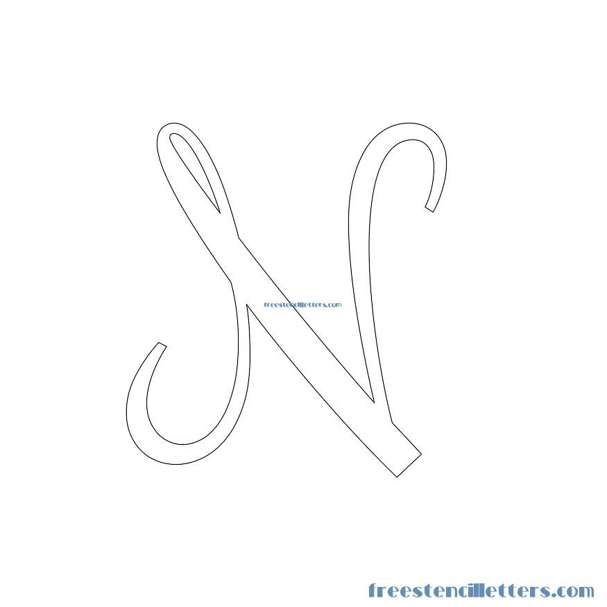 cursive stencils and numbers to print free stencil letters