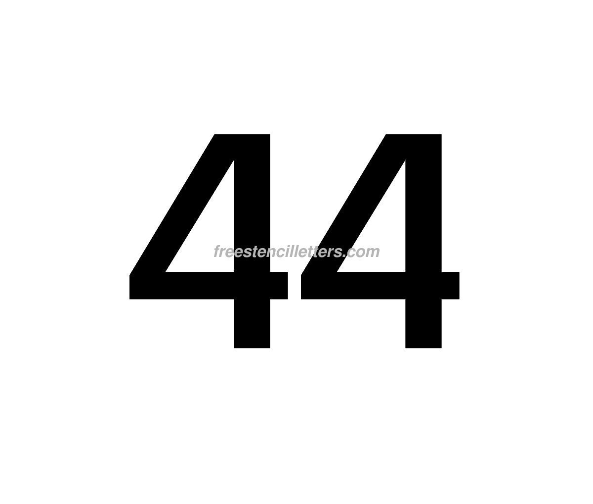 number-44  Inch Letter Template on uppercase stencil, british thermal unit, imperial units, printable block, cubic inch, pounds per square inch, international system of units, template printable, unit of length, square inch, cut out, thousandth of an inch, fluid ounce, old english, stencils printable free, english units, stencils printable krishitha, printable stencil,
