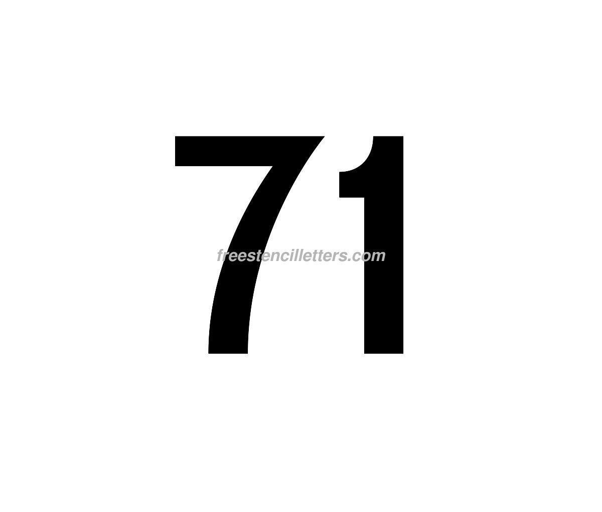 Print Number 71 Letter Stencil Free Stencil Letters