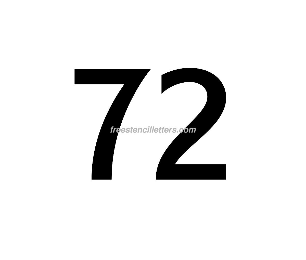 Print Number 72 Letter Stencil - Free Stencil Letters