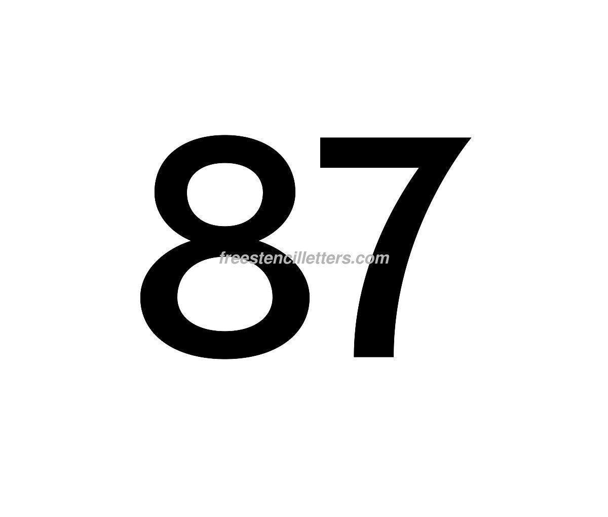 number template free