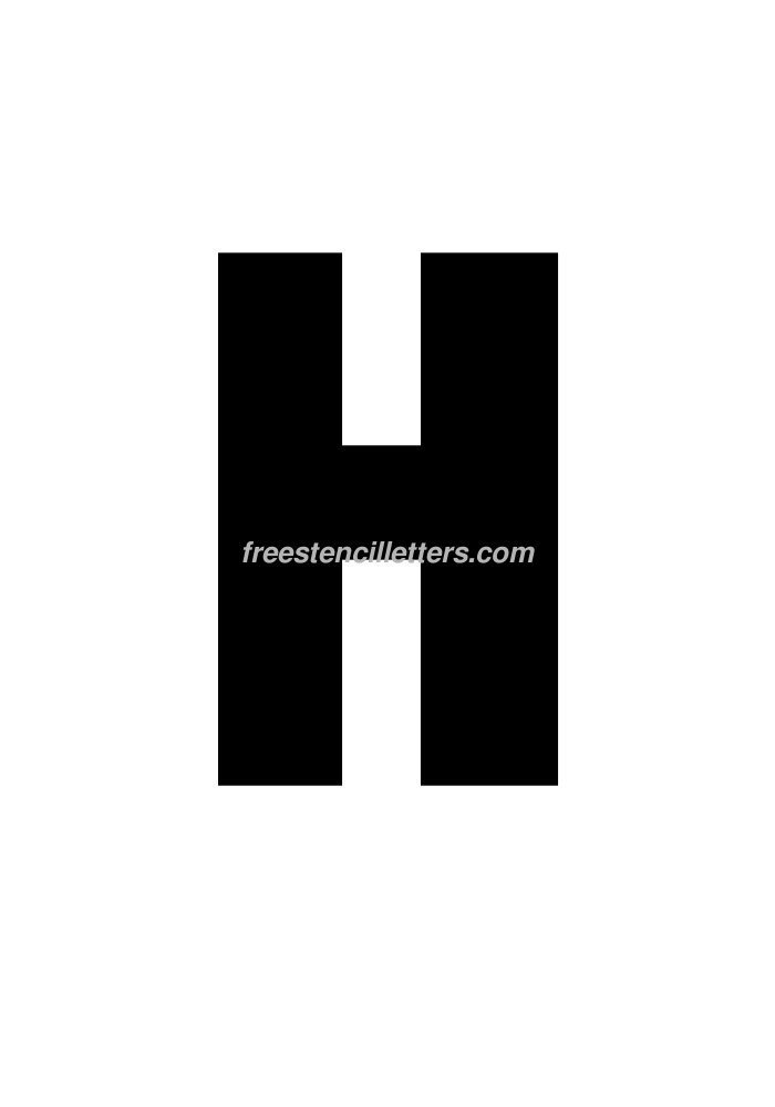 10inch-stencil-h  Inch Letter Templates on thousandth of an inch, english units, imperial units, unit of length, cubic inch, pounds per square inch, square inch, international system of units, fluid ounce, british thermal unit,