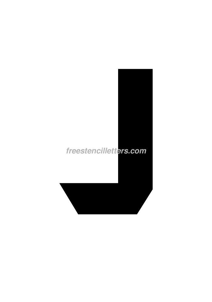 10inch-stencil-j  Inch Letter Templates on thousandth of an inch, english units, imperial units, unit of length, cubic inch, pounds per square inch, square inch, international system of units, fluid ounce, british thermal unit,