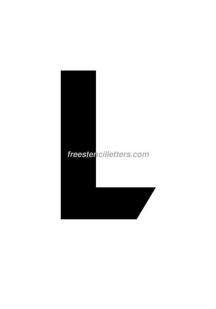 Download print 10 inch l letter stencil to print and cut out