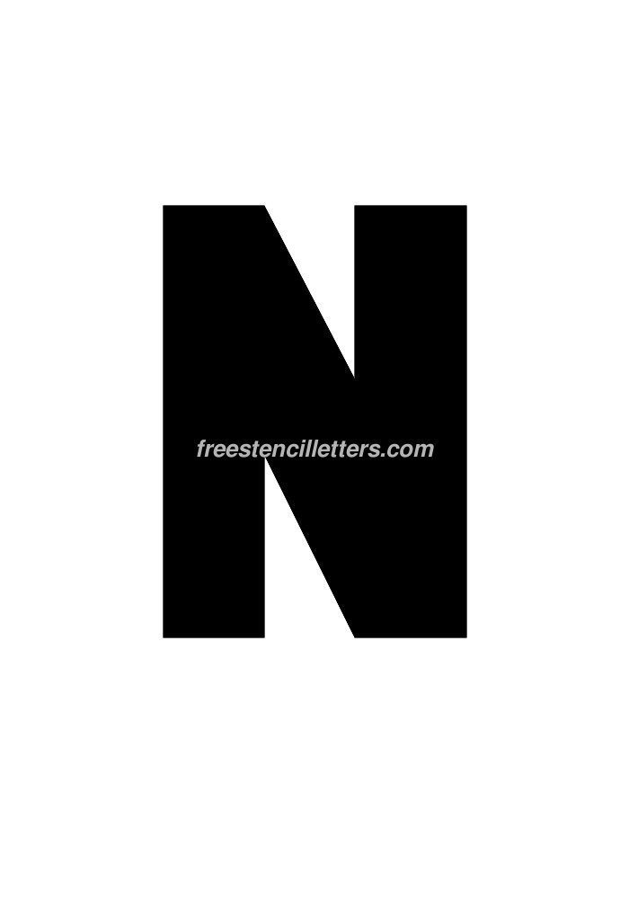 10inch-stencil-n  Inch Letter T Template on