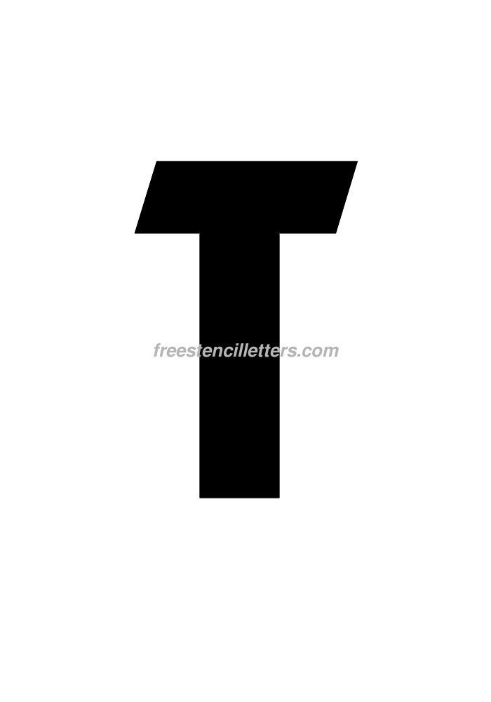 10inch-stencil-t  Inch Letter T Template on