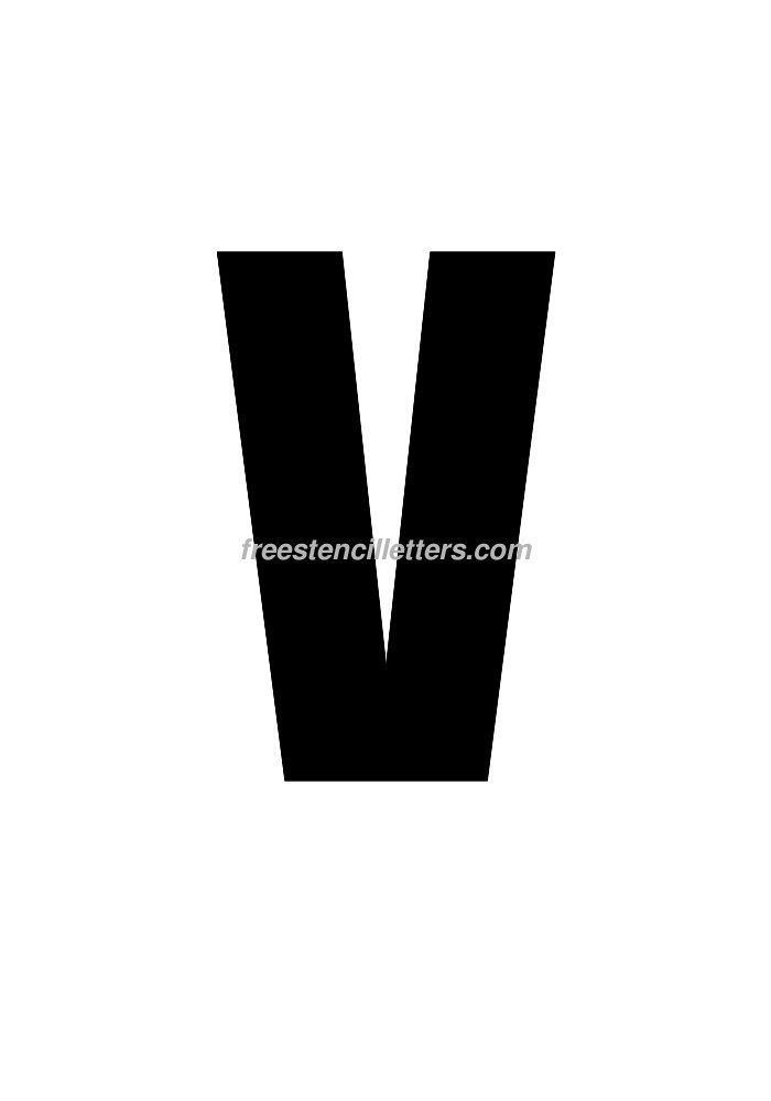 10inch-stencil-v  Inch Letter Templates on thousandth of an inch, english units, imperial units, unit of length, cubic inch, pounds per square inch, square inch, international system of units, fluid ounce, british thermal unit,
