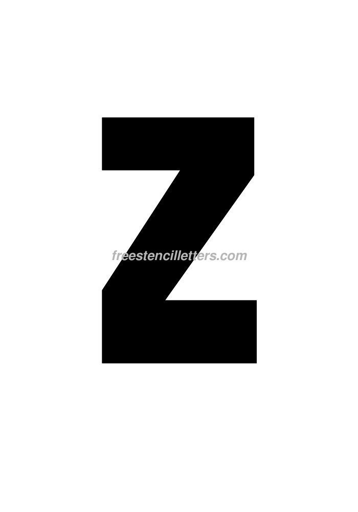 10inch-stencil-z  Inch Letter Templates on thousandth of an inch, english units, imperial units, unit of length, cubic inch, pounds per square inch, square inch, international system of units, fluid ounce, british thermal unit,