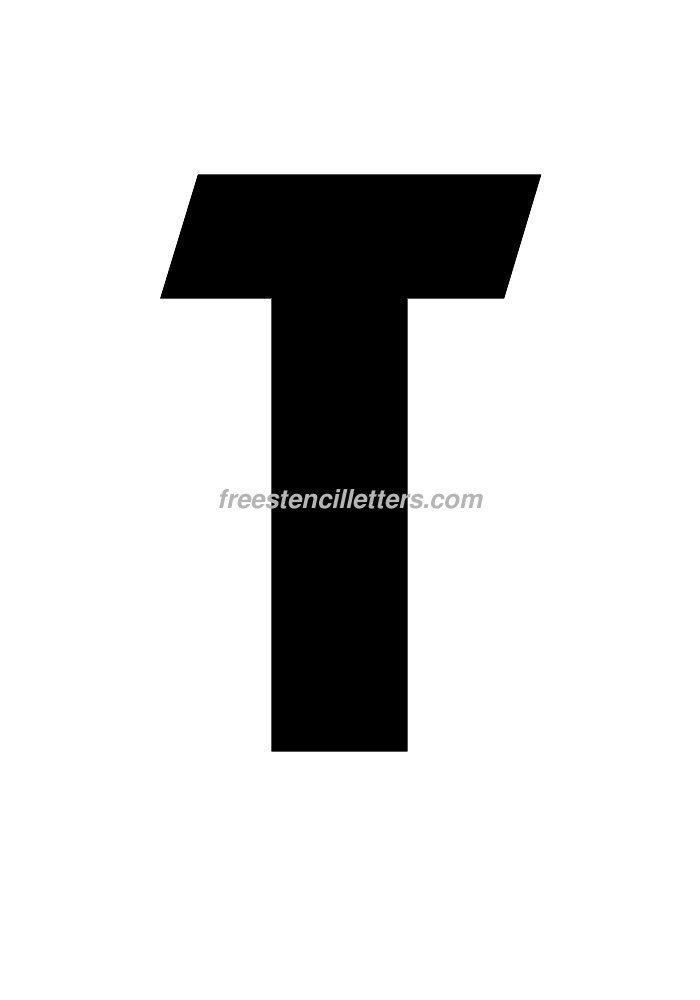 12inch-stencil-t  Inch Letter Templates on unfinished wooden, stencils print for free, wooden scroll, stainless steel, cut out free, free alphabet stencils curly, free printable, paper mache, stencils printable, for signs, alphabet template,