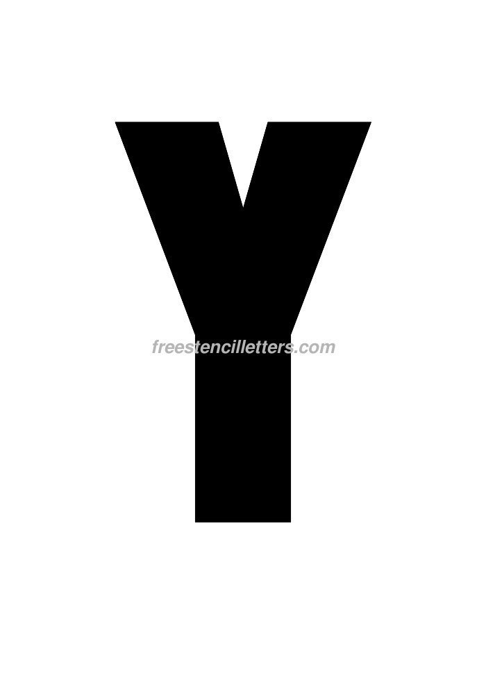 12inch-stencil-y  Inch Letter Templates on unfinished wooden, stencils print for free, wooden scroll, stainless steel, cut out free, free alphabet stencils curly, free printable, paper mache, stencils printable, for signs, alphabet template,