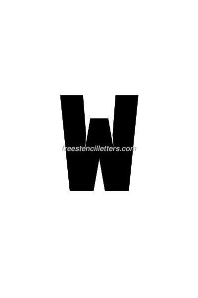 4inch-stencil-w  Inch Letter Templates on basic cover, sample request, sample business,