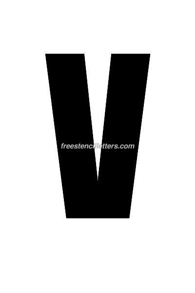 7inch-stencil-v  Inch Letter Templates on basic cover, sample request, sample business,