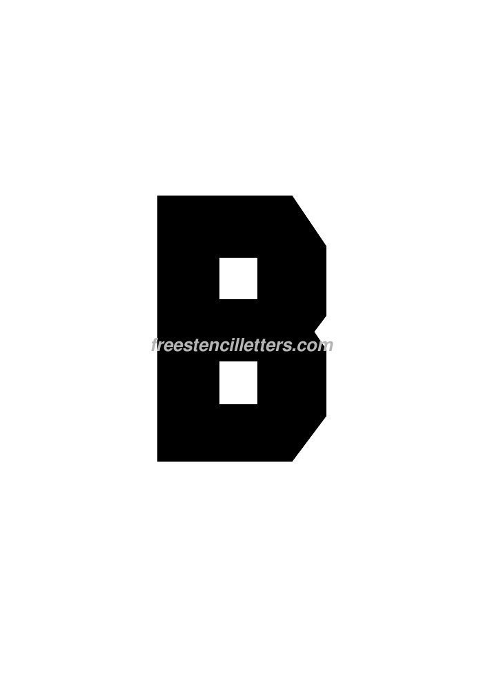 8inch-stencil-b  Inch Printable Letter Stencils Templates on