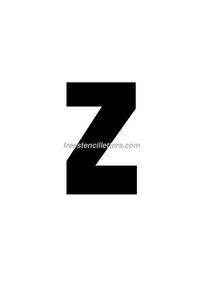 Print 8 inch z letter stencil free stencil letters for 8 inch letter stencils