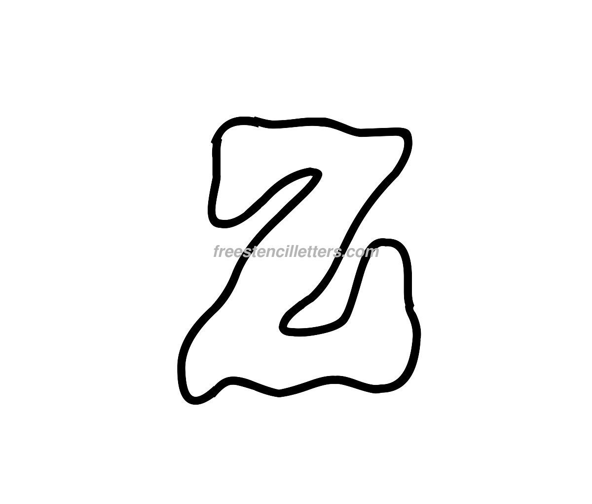 Download Print Z Letter Stencil to print and cut out