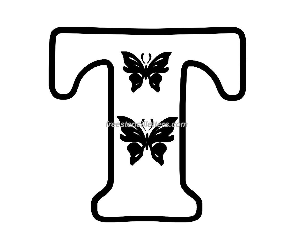 Butterfly stencil letters archives free stencil letters print t letter stencil spiritdancerdesigns Gallery