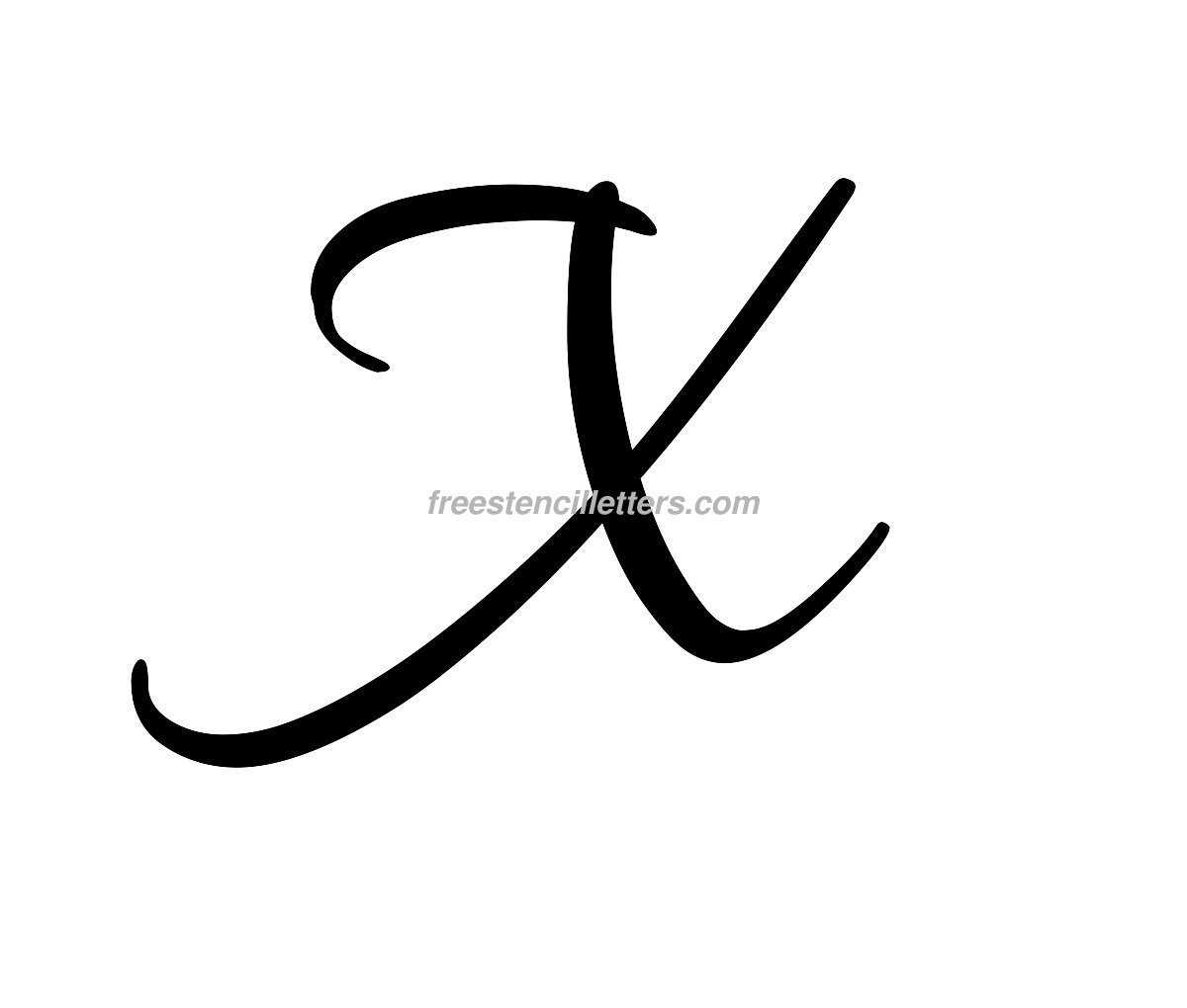 Cursive letters archives free stencil letters print x letter stencil biocorpaavc Image collections