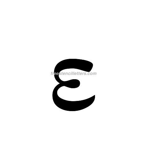 Print Greek Letter Epsilon Lowercase Letter Stencil