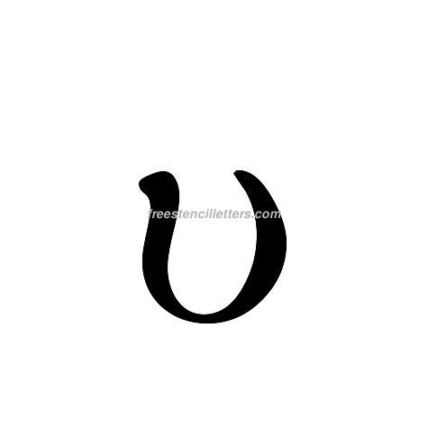 Print Greek Letter Upsilon Lowercase Letter Stencil