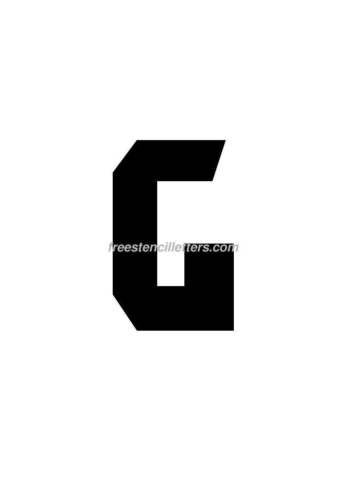 graphic relating to 4 Inch Letter Stencils Printable titled Print 8 Inch G Letter Stencil - Totally free Stencil Letters