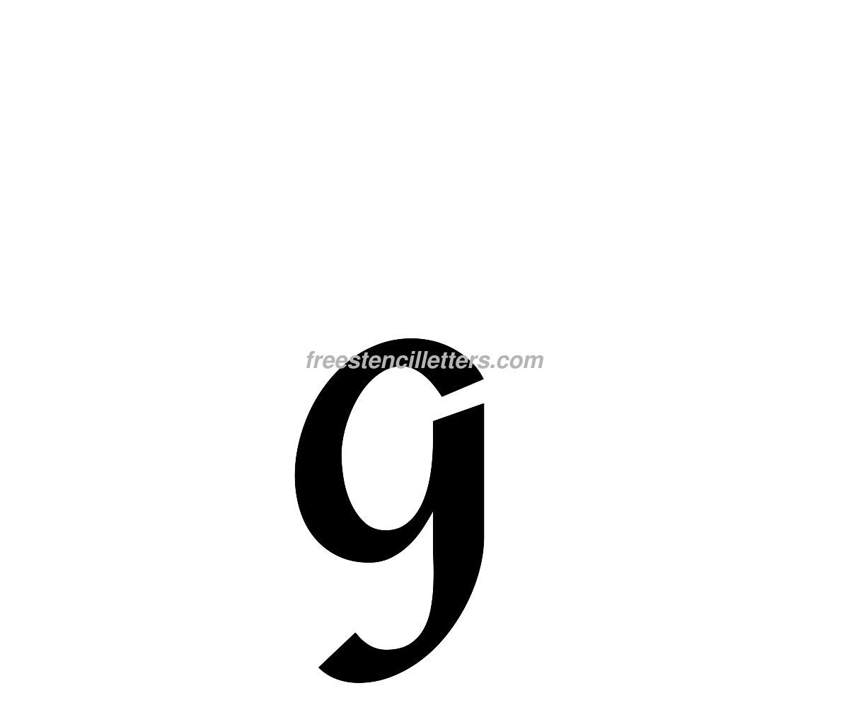 Print Lowercase G Letter Stencil
