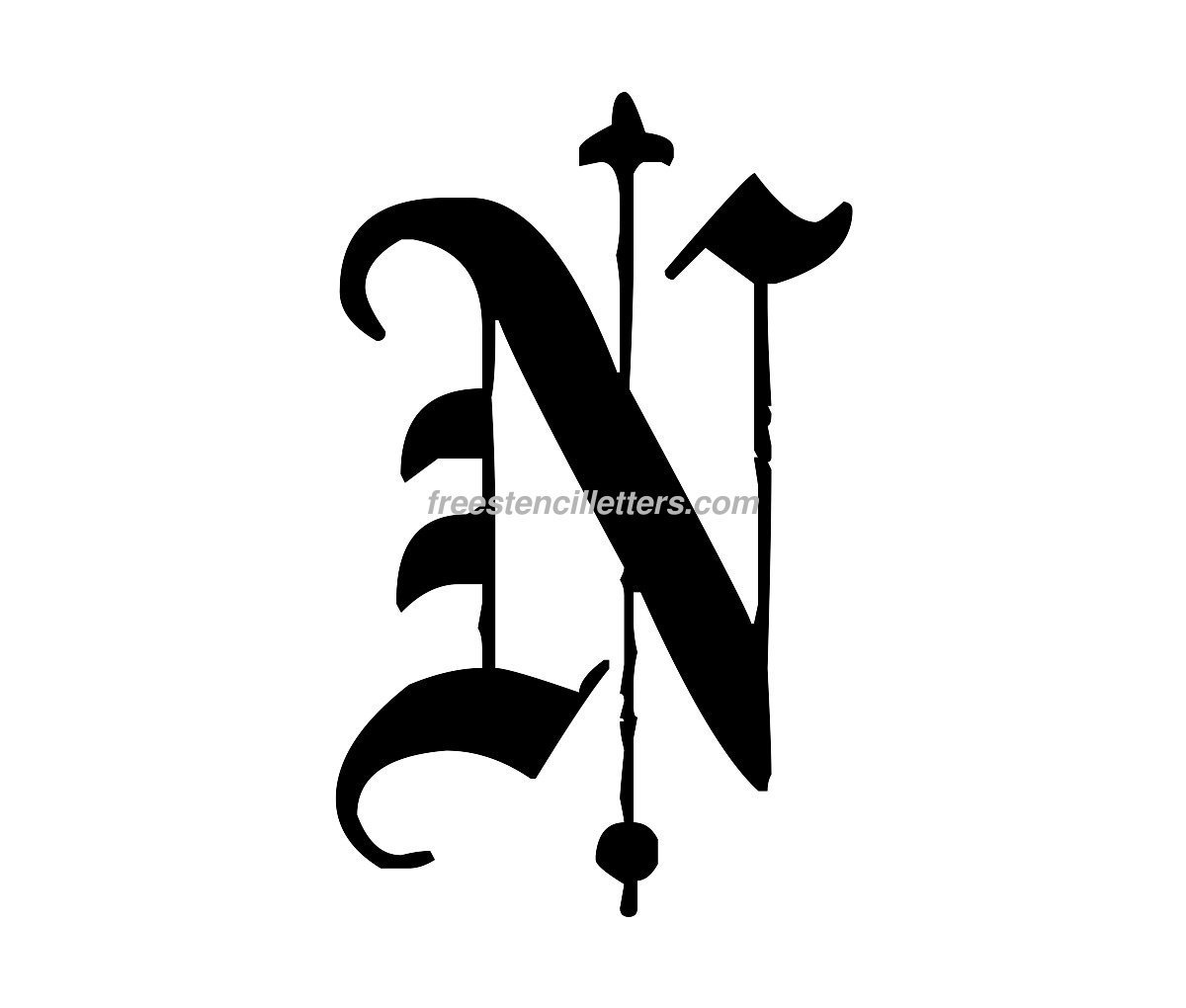 Free Old English Stencil Letters 49