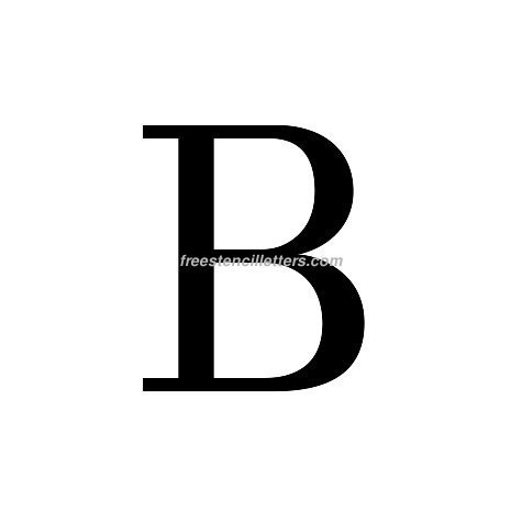Print Greek Letter Beta Letter Stencil