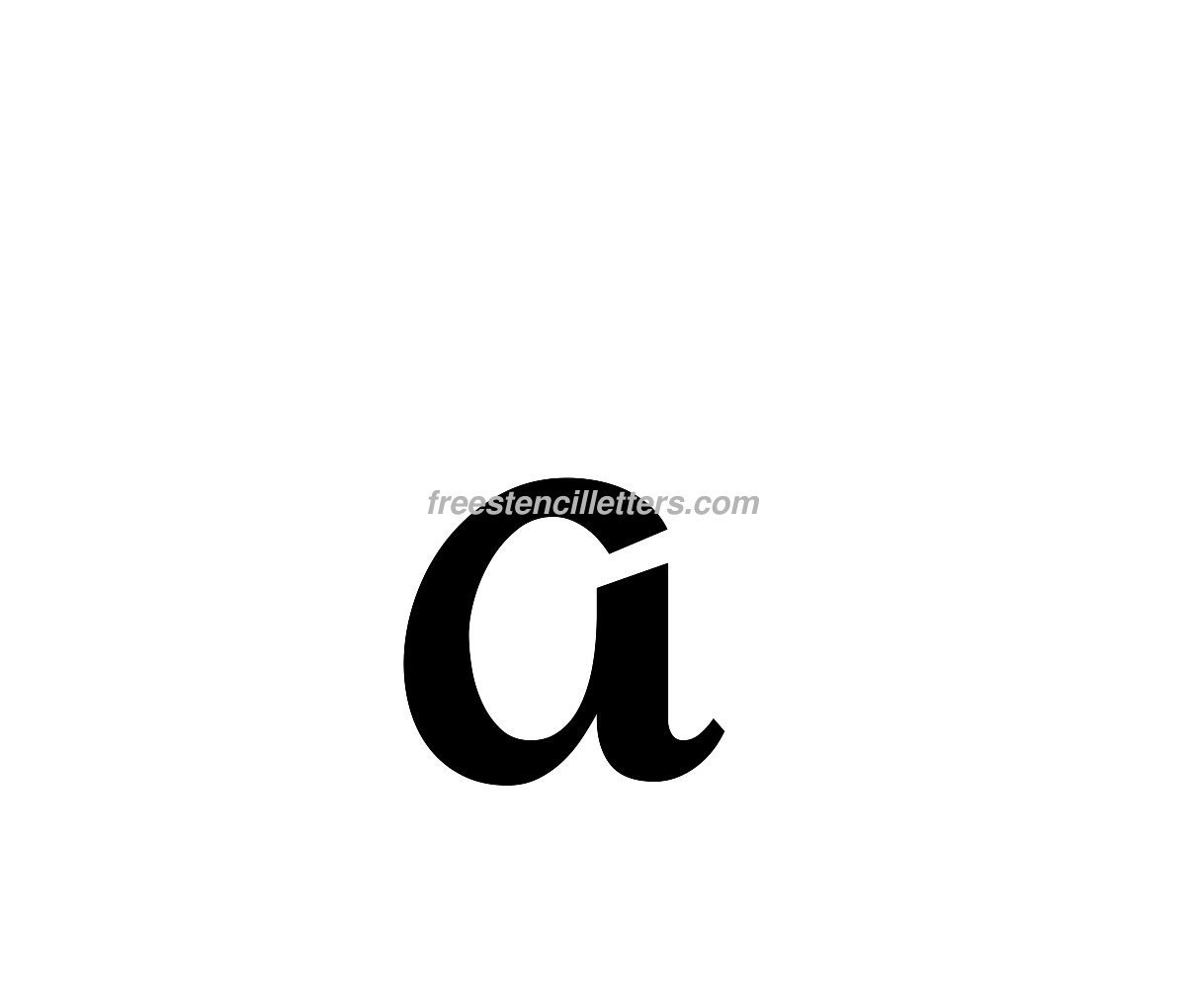 Print Lowercase V Letter Stencil  Free Stencil Letters