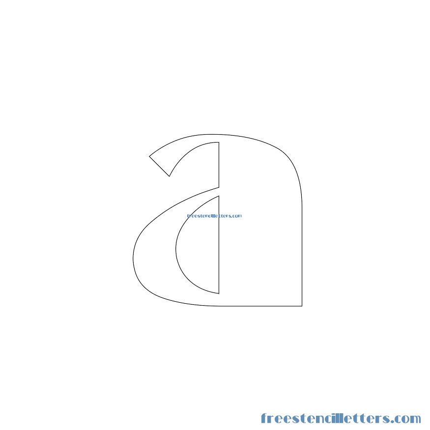 Broadway lowercase-alphabetstencil-letter-a