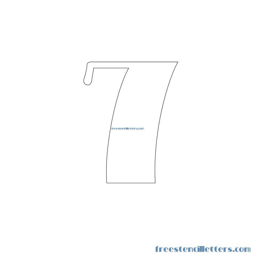 Classic Stencils to print and cut out number 7