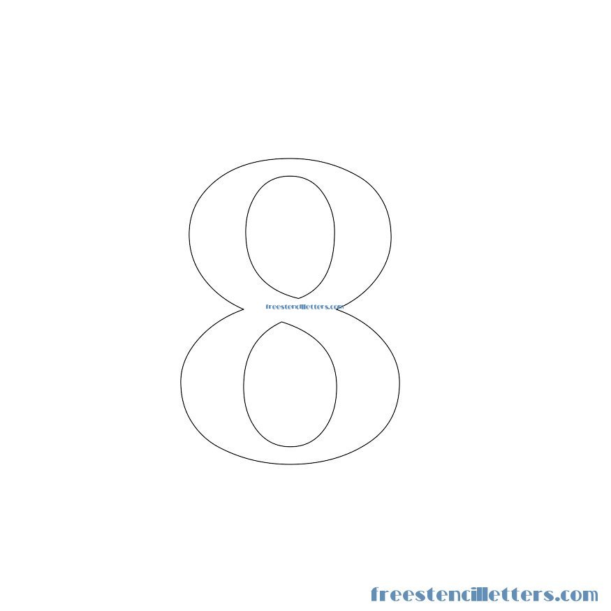 Elegant Stencils to print and cut out number 8